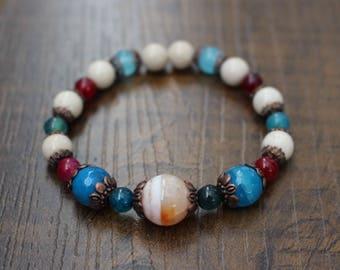 Gemstone bracelet, agate