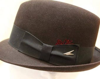 "Vintage Dobb's ""Forward Look"" Men's Dark Brown Fedora Fur Felt Dress Hat Size 7"