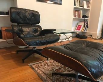 ORIGINAL Herman Miller Eames Lounge Chair - 1960s - Brazilian Rosewood