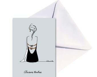 Folded card, envelope good white.