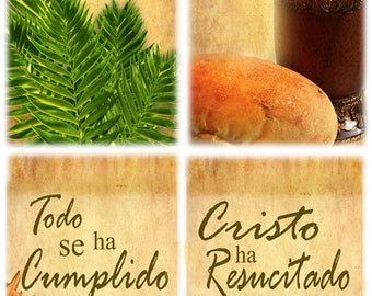 Easter Set A / Yard Banner - SPANISH (G1215-1 group)
