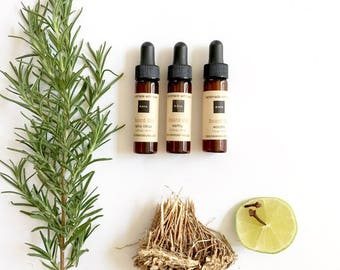 Gift set of 3 Beard Oils + Kraft Box | Travel Size | Earthy, Woodsy, Spicy Citrus | Mustache oil | 100% Natural | Thanksgiving, Gift for Him