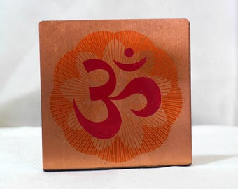 An Om on Copper Plate