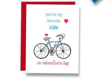 Sexy Valentines Card - Sexy Card - Valentines Card - You're My Favorite Ride