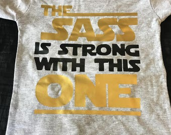 Sassy Force Strong Star Wars Inspired Children's Tee