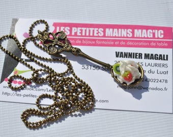 bronze spoon necklace gourmet whipped Strawberry kiwi