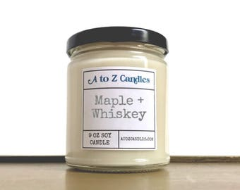 Maple Whiskey Candle, Maple Toddy, Maple Candle, Whiskey Candle, Soy Candle, Maple Toddy Candle, Maple Whiskey, Toddy Candle, Jar Candles