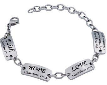 "Identity Bracelet ""Faith Hope Love"""