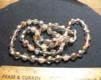 Faceted Crystal Bead Necklace(761)