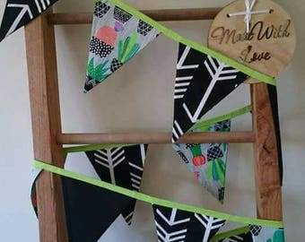 Funky and bright cactus bunting