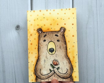 I have a flower for you - original watercolor art