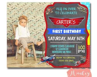 PLANES BIRTHDAY INVITATION, Airplane Birthday Invitation, Disney Planes Birthday Invitation