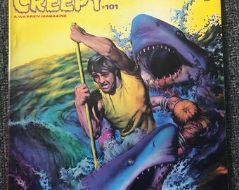 Vintage Sept 1978 CREEPY Magazine! JAWS Of Death Special Issue! Warren Horror! Shark!