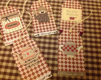 Set of 5 large tags for food labels to decorate or personalize