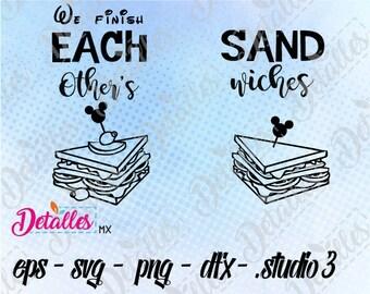 Disney T-shirt / We Finish Each Other's Sandw