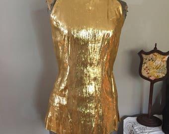 1960s Gold Lamé Top