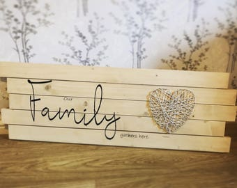 Our Family Gathers Here Wall Art