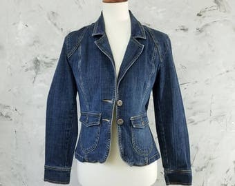 Gloria Vanderbilt Vintage 90's Denim Jacket Women's Size Small - Vintage 90's Jean Jacket - Denim Jean Jacket - Women's Jean Jacket Size S