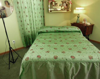 Image result for iridescent green brocade bed