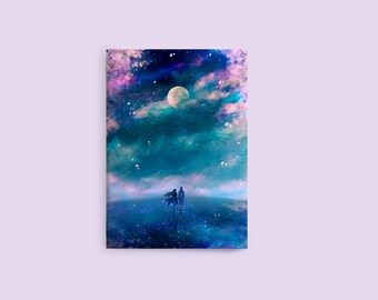Romantic Couple Notebook, Art Notebook, Blank Notebook, Anime Notebook, Small Pocket Notebook, Sketchbook, Anime Sketchbook