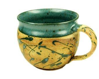 Mug Bulbous Green speckled