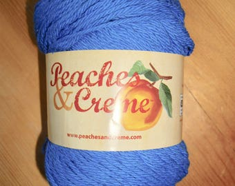 Peaches & Creme Brand Yarn, Periwinkle Blue, 100% Cotton, 2.5 oz, 4-ply, 120 yards, New!