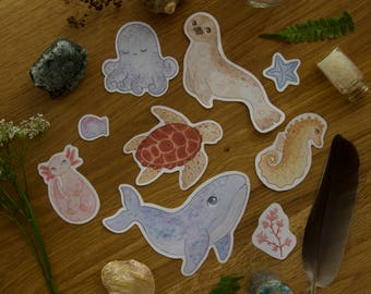 Sea Creatures - Sticker Set
