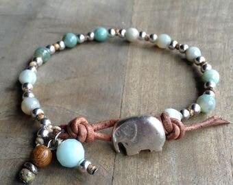 Agate 6 mm bohemian bracelet boho chic bracelet rustic bracelet womens jewelry boho bracelet gemstone bracelet boho jewelry beaded bracelet