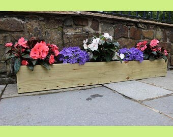 Hand Made Wooden WIndow Box/Flower/Herb Planter 100cm  Free Delivery