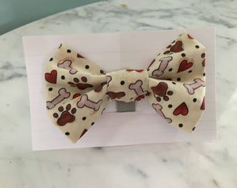 Dog bone doggie bow tie