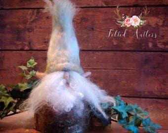 Needle Felted Gnome Elf Fantasy Art Sculpture