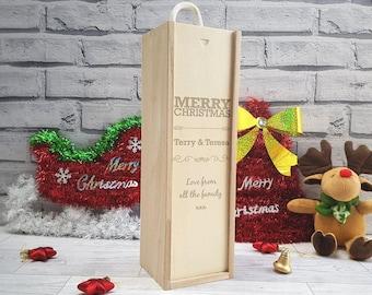 Personalised Wine Bottle Holder - Christmas, Gift, Wine/Champagne (00301)