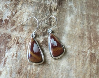 925 Sterling silver Noreena Jasper gemstone earrings