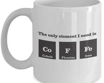 coffee cool science mug funny gift science gift idea