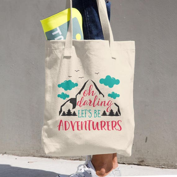 Tote Bag Adventure Made in the USA Cotton Tote Bag - Makes a Great Grocery Bag - Classic All-purpose Natural Cotton Tote