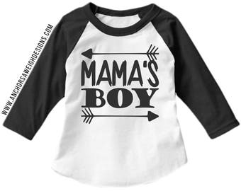 Mama's Boy Youth Raglan