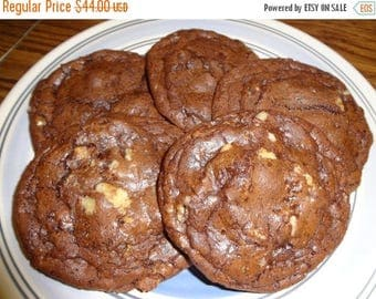 ON SALE: Homemade Brownie Cookies With Toffee & Toasted Walnuts (30 Cookies)
