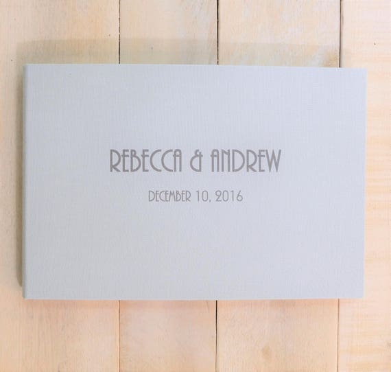 Personalized Linen Guest Book - Gatsby -  Contemporary Guest Book
