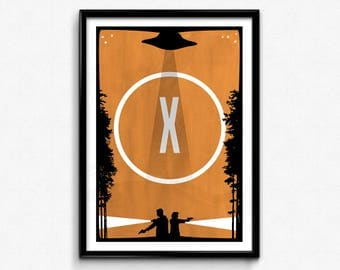 X-Files Poster/Print - I Want To Believe Poster/Print - xfiles, x files, Mulder & Scully, Fox Mulder Print, Dana Scully, CtrlAltGeek