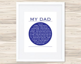 My Dad Personalised Father's Day Print