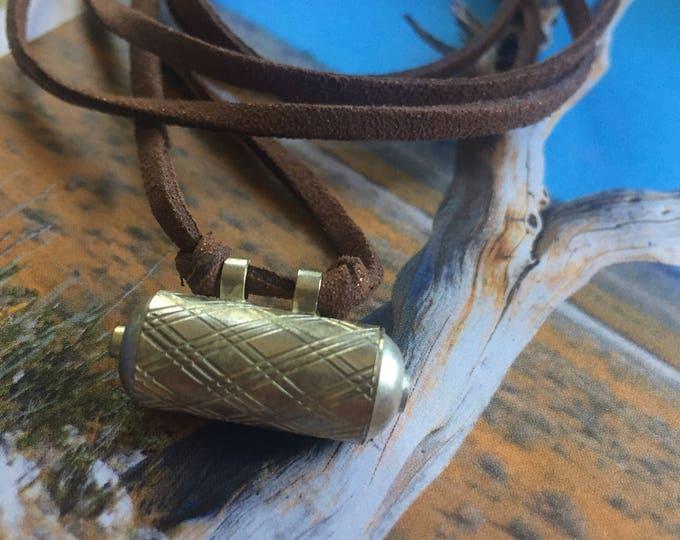 Vegan Leather + Tibetan Intention Box   Adjustable Length Choker Necklace   Reiki Love Infused   Spiritual Junkies   Yoga + Meditation