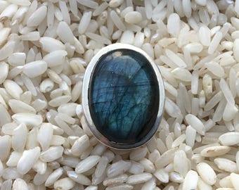 Sterling Silver ring 925 labradorite stone