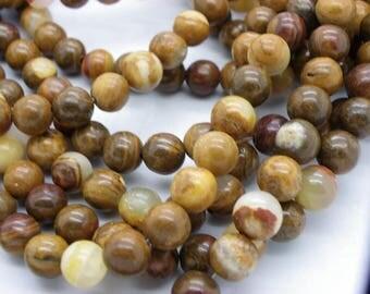 48 jade natural beige Brown 8-9 mm