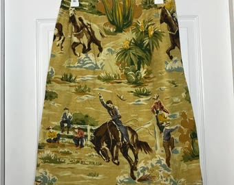 Yellow cowboy skirt