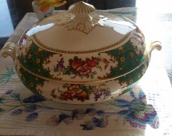 Antique Sampson and Bridgwood tureen soup serving bowl