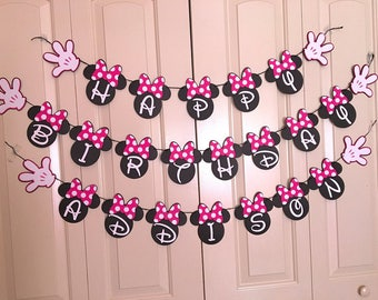 Minnie Mouse Banner - Minnie Mouse Birthday Banner - Disney Minnie Mouse Banner - Minnie Mouse Party Banner