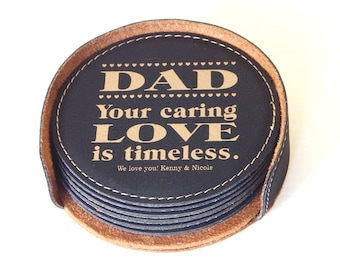 Daddy Coasters, Gift for Dad, Dad Birthday Gift, Dad Christmas Gift, Father's Day Gift, Drink Coasters, Gift for Father, Coasters CAS019