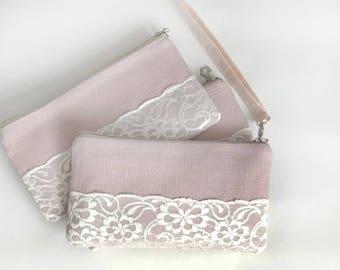 Pink Set of 6 Braidsmaide clutch Wedding purse Set Braidesmaid Gift Wedding clutch Clutch purse Evening purse  Bridal clutch bag