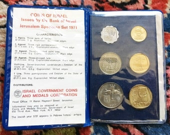 Foreign Coins Old Coins Israeli Coins Rare Coins Foreign Coins Silver Coins Gold Coins 1971 Coins of Israel Coin Book Jerusalem Israeli