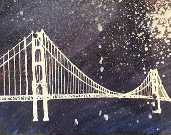 Starry Night Golden Gate Bridge